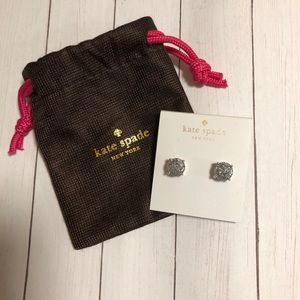KATE SPADE faux diamond stud earrings